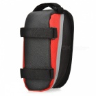 Bike Bicycle Frame Pannier Front Tube Polyester Bag - Red + Black