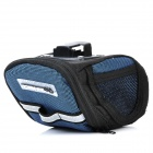 Cycling Bicycle Bike Fashion Saddle Seat Tail Bag - Black + Blue