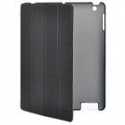 "ROCK ""Gentry"" Series Protective PU Leather Case for New Ipad / Ipad 2 - Black"