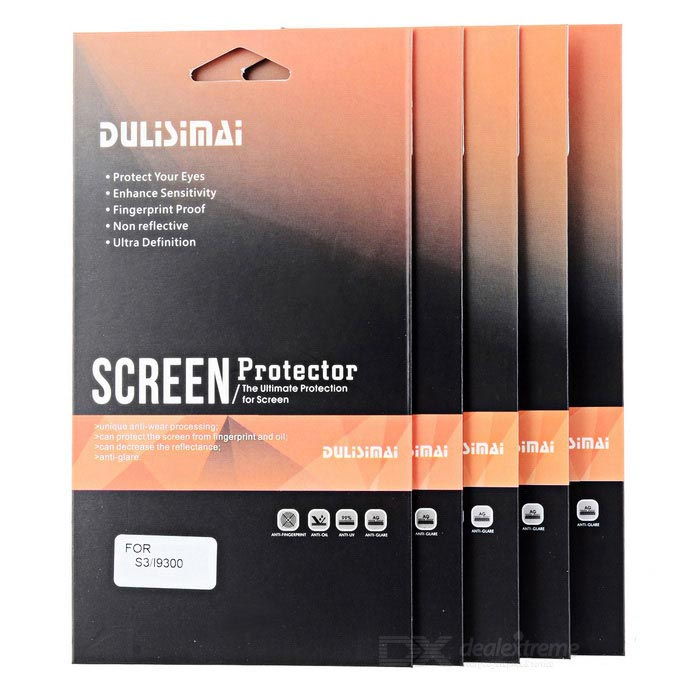 Protective Screen Protector Guard Film for Samsung I9300 Galaxy SIII (5-Piece Pack)