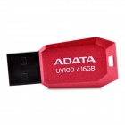 ADATA UV100 Ultra-Thin USB 2.0 Flash Drive - Red (16GB)