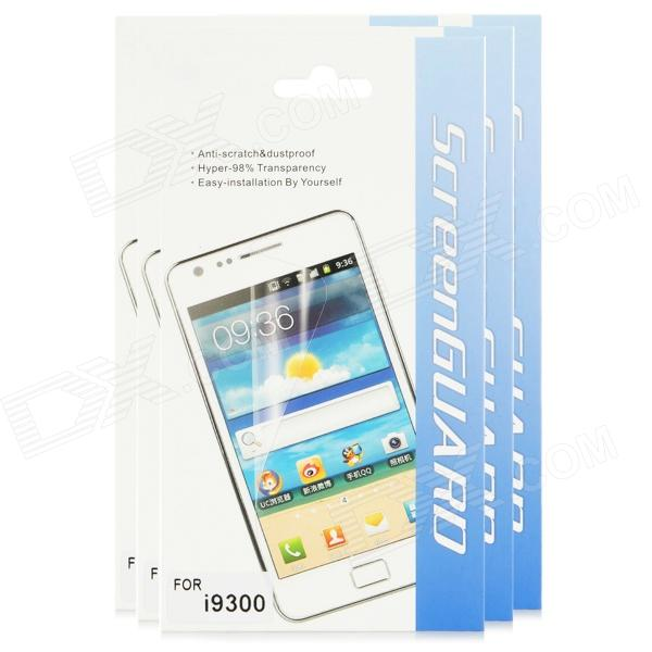Protective Matte Screen Protector Guard Film for Samsung I9300 Galaxy SIII (5-Piece Pack) protective matte frosted screen protector film guard for nokia lumia 900 transparent
