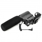 Nonsha NA-Q7 Stereo Shotgun Microphone w/ Mount for Camcorder - Black