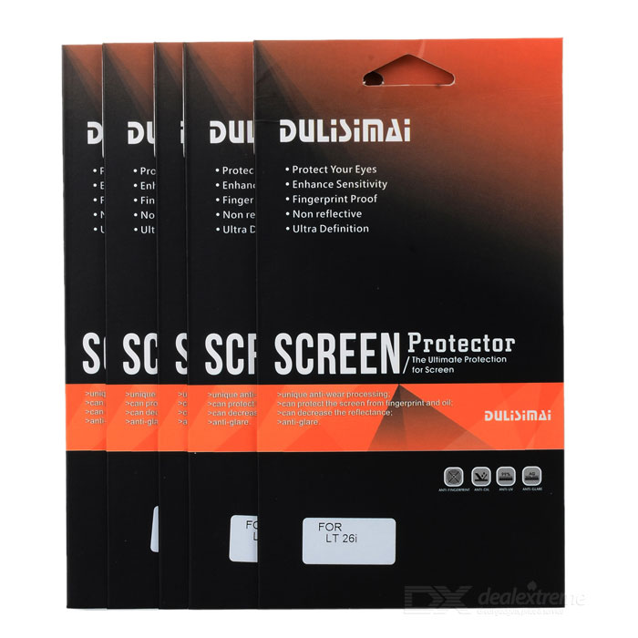 Protective Screen Protector Guard Film for Sony Ericsson LT26i (5-Piece Pack) protective matte frosted screen protector film guard for nokia lumia 900 transparent