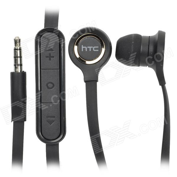 Genuine HTC Stylish 3.5mm In-Ear Earphone with Microphone - Black