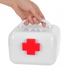 Portable Two-Layer Medicine Pill Storage Box - White + Red (S-Size)