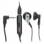 Genuine Sony Ericsson Stylish 3.5mm In-Ear Earphone with Microphone - Black