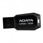 ADATA UV100 Ultra-Thin USB 2.0 Flash Drive - Black (16GB)