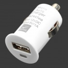 Mini USB 2.0 Car Cigarette Powered Charger for iPhone / HTC + More - White