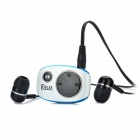 QBLUE K801 Bluetooth V2.1+EDR Handsfree Receiver w/ Earphone - White (180 Hours-Standby)