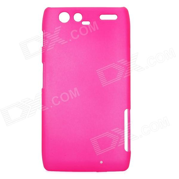 Protective ABS Back Case with Screen Protector for Motorola XT910 Maxx - Rose Red