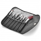 7-in-1 Professional Cosmetic Makeup Brushes Kits - Black + Brown