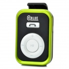 QBLUE K807 Bluetooth V2.1+EDR Handsfree Receiver w/ Earphone - Black + Green (180 Hours-Standby)