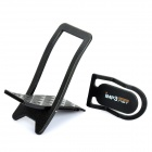Mini Universal Cell Phone Stand Holder with Earphone Cable Winder - Black