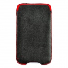 Protective Slide-in Lambskin Case for HTC ONE X / S720E - Black