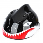 Children Shark Style Cycling Bike Bicycle Helmet - Black + White + Red (Size-M)