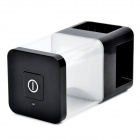 SJ-32298B Bluetooth V2.0 Speaker w/ 4-LED Desktop Lamp - Black + White