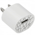 Mini USB Power Adapter / Charger - White (2-Flat-Pin Plug / 100~240V)