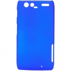 Protective ABS Back Case with Screen Protector for Motorola XT910 Maxx - Blue