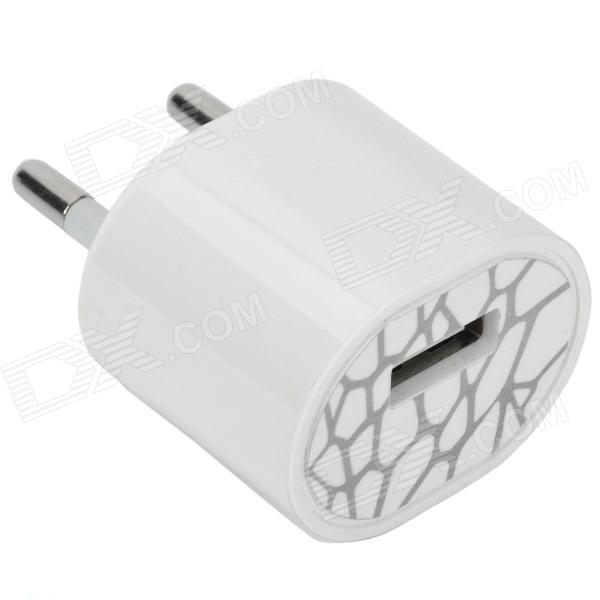 Mini USB Power Adapter / Charger - White (2-Round-Pin Plug / 100~240V)