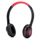 Mj-368 Bluetooth V2.1 Handsfree MP3 Player Headset w/ FM / TF - Black + Red