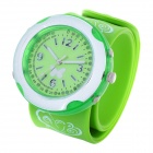 Fashion Butterfly Silicone Band Colorful LED Backlight Quartz Wrist Watch -Green (2xCR2016)
