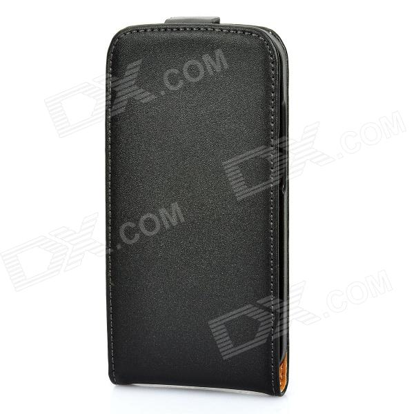 Protective PU Leather Case for HTC One S - Black