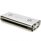 Metal 16-Hole Harmonica - Silver (G-Key)