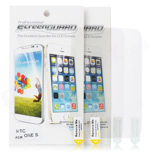 Protective Screen Protector Guard Film for HTC One S (Pair)