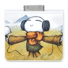 2200mAh Portable USB Micro Mobile Charger w/ Cartoon Pattern for iPhone - White