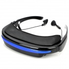 TF Card Movie Player Virtual Private Theater System 3D Glasses - Blue + Black