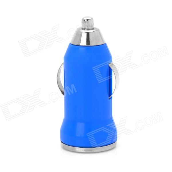 Portable USB Car Charger for Cell Phone - Blue (DC 12-24V)
