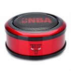 Mini Portable Music Speaker - Red + Black (3.5mm-Plug)