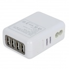 Universal AC Power Adapter with USB 4-Port HUB / US Plugs / EU Plug / UK Plug / AU Plug - White