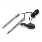 Decorative Car Cigarette Powered 30-LED RGB Sound Control Music Light - Silver (DC 12V)