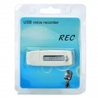 G3 USB Rechargeable Voice Recorder - White + Silver (8GB)