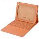 Wireless Bluetooth V3.0 76-Key Keyboard w/ PU Leather Case for iPad / iPad 2 / The New iPad - Brown