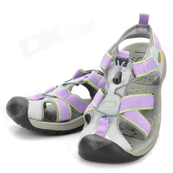 Topsky Women's Outdoor Sandals Shoes- Purple (Size 39)