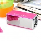 Portable MP3 Player Speaker w/ FM / TF / USB / AUX - Deep Pink