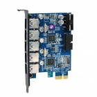 ORICO PVU3-5O2I 5-Port USB3.0 + USB3.0 20-Pin PCI-E 2.0 Expansion Card