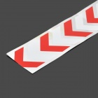 Safety Automobile Arrow Pattern Car Body Reflective Sticker - Silver + Red + White (Pair)