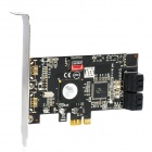 4-Port SATA PCI-Express Controller Card for Desktop - Black