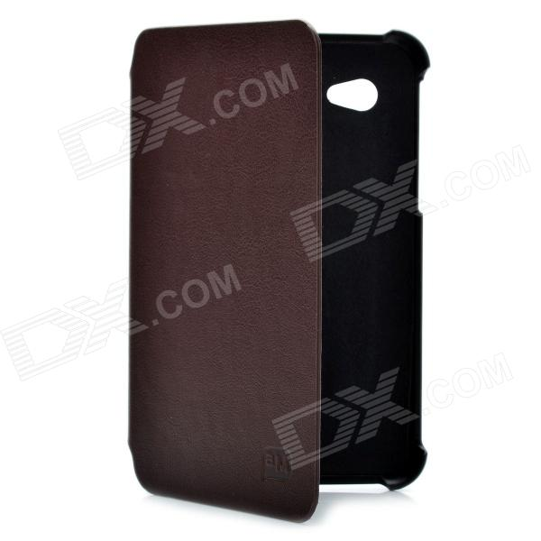 Flip Open Protective PU Leather Case for Samsung Galaxy Tab P3100 - Brown