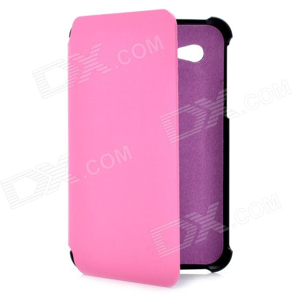 Flip Open Protective PU Leather Case for Samsung Galaxy Tab P3100 - Pink