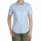 Topsky Outdoor Quick Dry Short Sleeves Shirt for Women - Light Blue (Size-XXL)