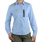 Topsky Outdoor Quick Dry Long Sleeves Shirt for Women - Sky Blue (Size-L)