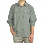 Topsky Outdoor Quick Dry Detachable Long Sleeves Shirt - Army Green (Size-L)