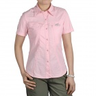 Topsky Outdoor Quick Dry Short Sleeves Shirt for Women - Pink (Size-L)
