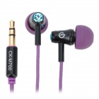 XKDUN KC-M700 Rhinestone In-Ear Earphone - Purple (3.5mm Jack / 120cm-Cable)