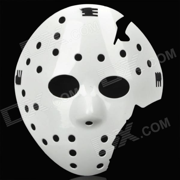 Stylish Multi-hole Broken Face Mask - White